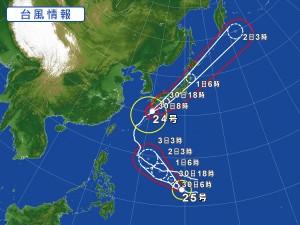 台風24号