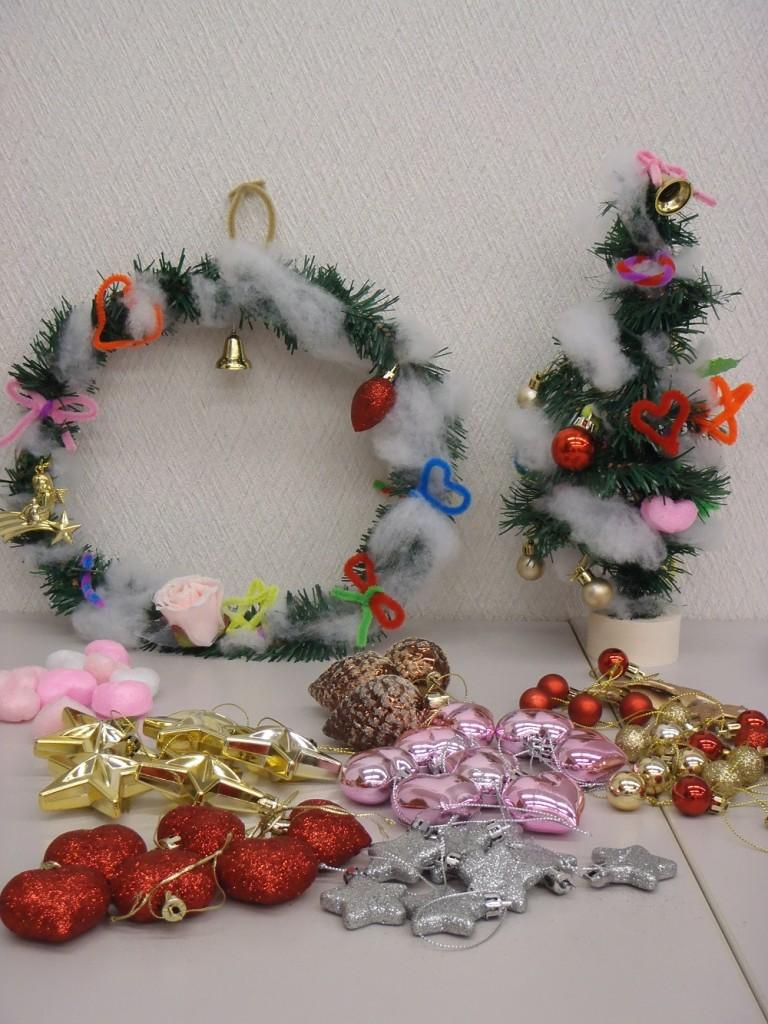 クリスマスツリー&クリスマスリース作り