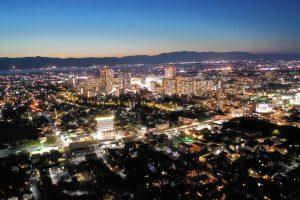 草津市の夜景